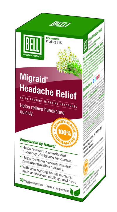 #15 Migraid Headache Relief - 30 capsules