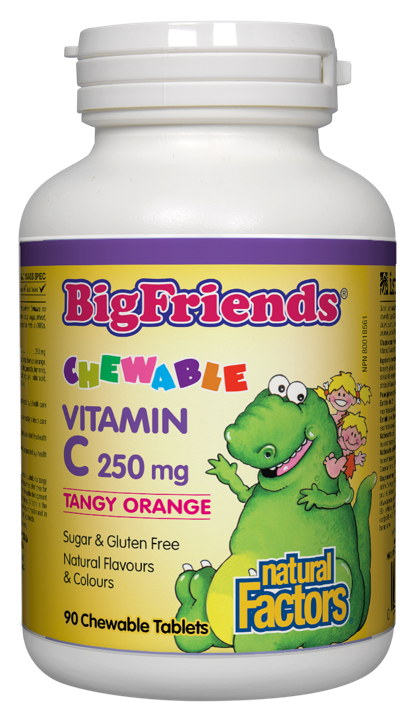 BigFriends Chewable Vitamin C - Tangy Orange 250 mg - 90 chews